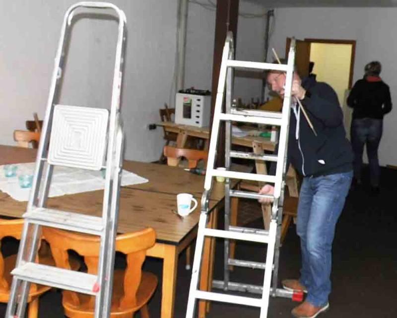 Arbeitseinsatz CDU-Wahlcafe